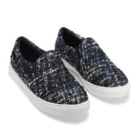 Black Tweed Plimsolls