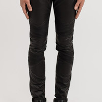 JN151 Waxed Coated Biker Denim - Black