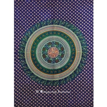 Buy Wholesale Blue Round Mandala Tapestry Wall Hanging From India