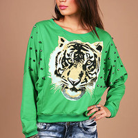 Eye of the Tigress Sweatshirt | Graphic Sweatshirts at Pink Ice