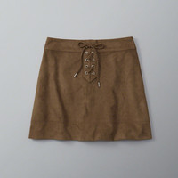 Womens Faux Suede Lace-Up Skirt | Womens Bottoms | Abercrombie.com