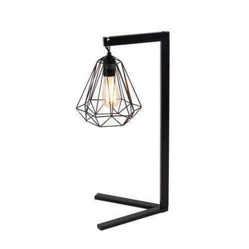 Chick Black Small Metal Wire Floor Lamp