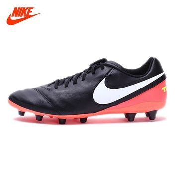 NIKE New Arrival 2017 TIEMPO GENIO II LEATHER AG-PRO Men's Football Shoes Soccer Shoes