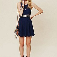 Free People Clothing Boutique > Colorblock Daisy Fit and Flare Dress