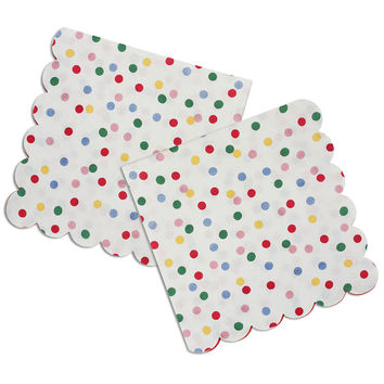 Small Toot Sweet Spotty Scallop Napkins
