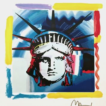 Liberty Head, Limited Edition Silkscreen, Peter Max