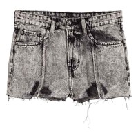 Vaquero corto - Negro washed out - MUJER | H&M ES