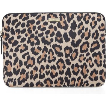 kate spade new york leopard 13-Inch laptop sleeve | Nordstrom