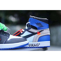 AIR JORDAN 1 x OFF-WHITE BLUE WHITE BLACK