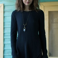 Erin Wasson Low Scoop Back Ribbed Sweater - Womens Sweater