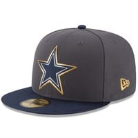 Dallas Cowboys NFL Gold Collection On Field 59FIFTY Cap
