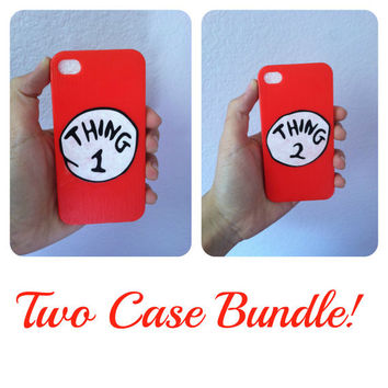 Thing 1 & 2 BFF cases for iPhone 4/4S/5