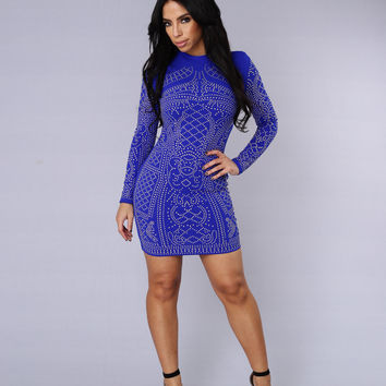 Star Studded Event Dress - Royal