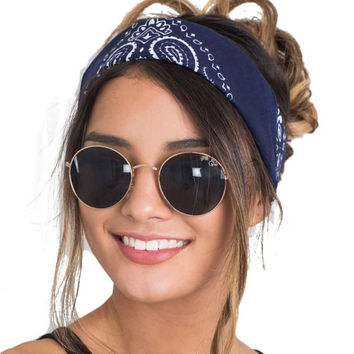Fashion  Scarf Square Head Female Bandanas Headwear Headbands Women