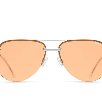 Quay The Playa Silver Sunglasses / Orange Lenses