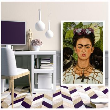 frida kahlo canvas painting oil painting frida kahlo canvas print poster frida kahlo painting canvas wall art picture cuadros