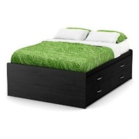 South Shore Furniture 54'' Lazer Captain Bed, Full, Black Onyx
