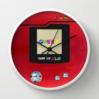 Retro Nintendo Gameboy pokemon pokeball pokedex Decorative Circle Wall Clock Watch by Three Second