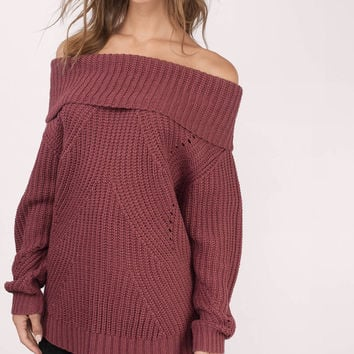 The Chills Off Shoulder Sweater