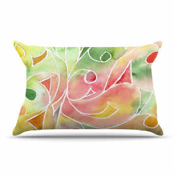 "Rosie Brown ""Gift Wrap"" Multicolor Pastel Pillow Sham"