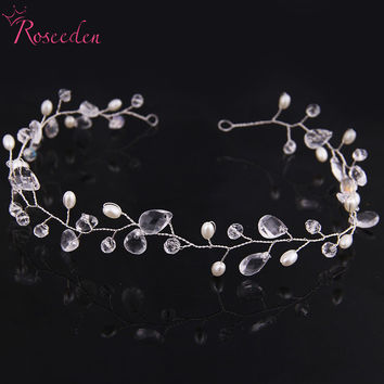 Bride Tiara Wedding Hair Comb Vintage Style Bridal Hair Accessories Crystal Bouquet Collection Top Quality 100% Handmade RE658