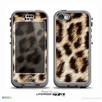 The Leopard Furry Animal Hide Skin for the iPhone 5c nüüd LifeProof Case