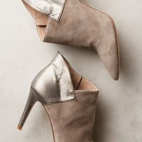 Hoss Intropia Heeled Leather and Suede Booties Mink