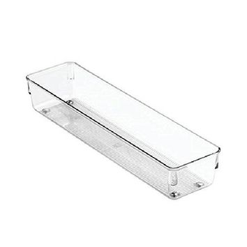 "InterDesign® 52530 Linus Drawer Organizer, 3"" x 12"" x 2"", Clear"