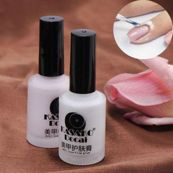 PEAPGB2 15ml White/Pink Peel Off Liquid Nail Art Tape Latex Tape Palisade Finger Skin Protected Easy Clean Nail Polish