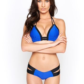 Montce Swim - Deeper Blue and Black Euro Top