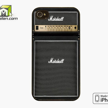 Marshall Amplifier Guitar HAZE15 iPhone 4s case by Avallen