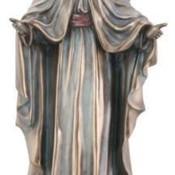Virgin Mary Offering Her Blessings Statue, Bronze Finish