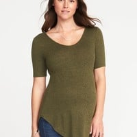 Maternity Plush-Knit Curved-Hem Tunic | Old Navy