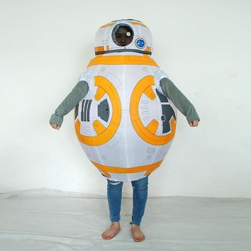 Inflatable Halloween Costume For Children/Kids Star Wars Robot BB-8 Cosplay Costumes Party/Stage/Eduction Inflatable Clothing