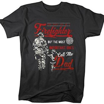 Shirts By Sarah Men's Firefighter Dad T-Shirt Important People Call Me Tee