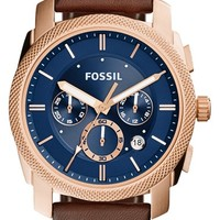 Men's Fossil 'Machine' Chronograph Textured Bezel Watch, 42mm