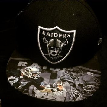 "Oakland Raiders authentic New Era hat with ""Brown"" custom"