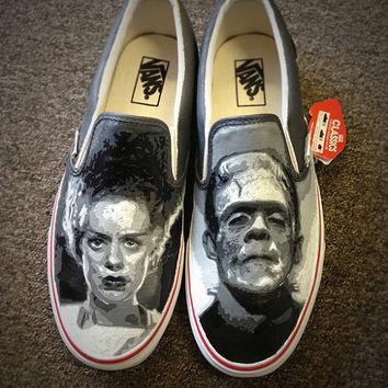 Custom Zombie / Frankenstein / Own design Vans / Canvas shoes