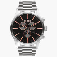 Nixon Sentry 38 Ss Watch Gray One Size For Men 25975811501
