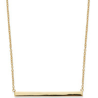 Giani Bernini 18k Gold over Sterling Silver Necklace, Bar Necklace - Necklaces - Jewelry & Watches - Macy's