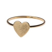 **FLAT HEART PENDANT RING BY ORELIA