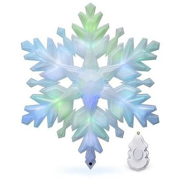 Stunning Snowflake Musical Tree Topper With Light
