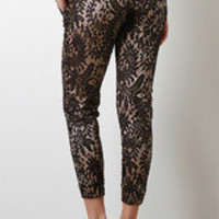 Satin And Lace Jogger Pants