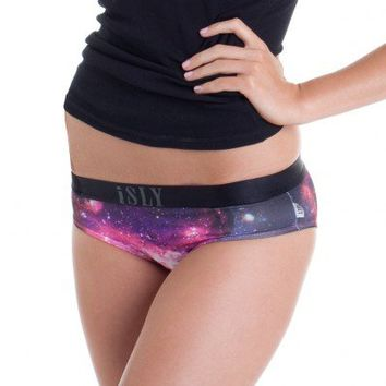 SLY  /  Girls Comfy Briefs, Women's Underwear, Galaxy Underwear, Galaxy Print