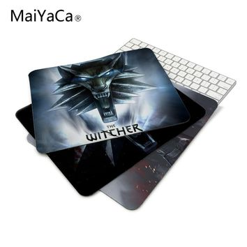 MaiYaCa The Witcher Rise of the White Wolf Logo Mouse Pad Computer Gaming Mouse Pad Gamer Mouse Mats
