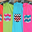 Neon and Bright Monogrammed Pocket T Shirt