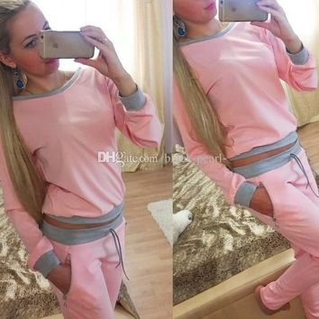 Hot Sale Women Sexy Tracksuits 2PCS Set's Comes in 2 colors