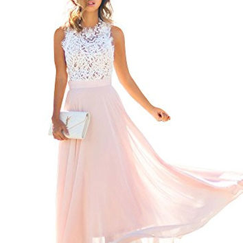 Doreen Womens Vintage Chiffon Formal Prom Party Evening Gown Wedding Bridesmaid Dress