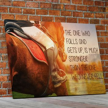 Horse Riding Inspirational Quote Framed Canvas Wall Art Horse Decor