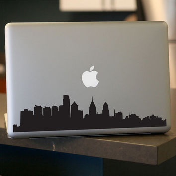Philadelphia Skyline Decal - Sticker -  Car Window,  Laptop, Wall- UPDATED